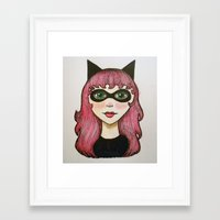 Faye Framed Art Print