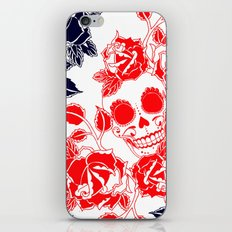 skull and rose iPhone & iPod Skin