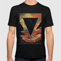 disruption of his world... (Paradise) Mens Fitted Tee Tri-Black SMALL