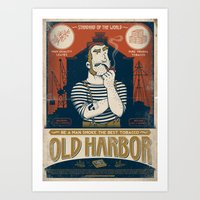 Classic Posters. Old Har… Art Print