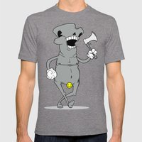 The Awkward Stroll  Mens Fitted Tee Tri-Grey SMALL