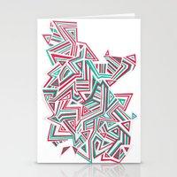 Geo Run Stationery Cards