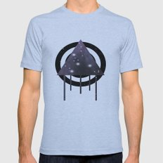 Dripping Space Mens Fitted Tee Athletic Blue SMALL