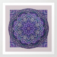 Batik Meditation  Art Print