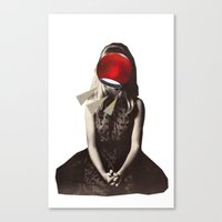 Canvas Print featuring She Loves Lamp by Alicia Ortiz