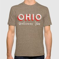 Vintage Ohio Welcome Sign Mens Fitted Tee Tri-Coffee SMALL