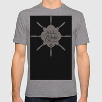 All Will Pass Mens Fitted Tee Athletic Grey SMALL