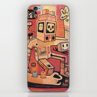 iPhone & iPod Skin featuring Esclaves Des Robots... N… by Exit Man
