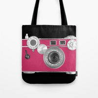 Pink Fashion Camera Tote Bag