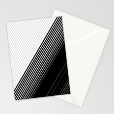 Modern Simple Black Stripes and White Color Block Stationery Cards