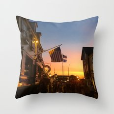 Clarke Cooke House at Sunset Throw Pillow