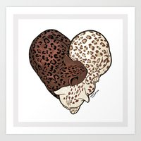 LEOPARD LOVE Art Print