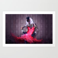 Miss Red Art Print