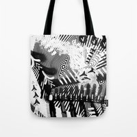GRAY AND BLACK Tote Bag
