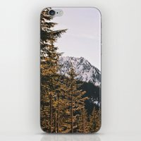 Snow Mountain In The Tre… iPhone & iPod Skin