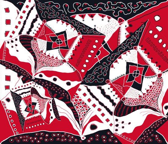 TRICHROMATIC DELIRIUM RED BLACK WHITE Art Print
