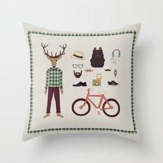 Deer Boy Throw Pillow