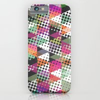 iPhone Cases featuring Dots and Triangles III  by Metron