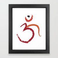 Om To Guide Your Way Framed Art Print