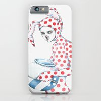 iPhone & iPod Case featuring Red Dotted Bunny by Zina Nedelcheva
