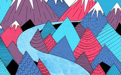 Art Print - Blue Sky River -  Steve Wade ( Swade)