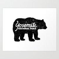 Yosemite Bear Art Print