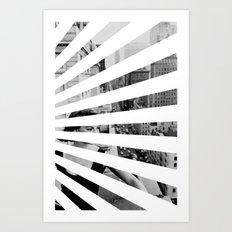 City Rays Art Print