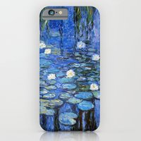 iPhone Cases featuring water lilies a la Monet by Jo.PinX
