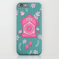 iPhone & iPod Case featuring Cuckoo Time pink by Floating Lemons