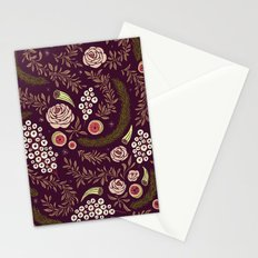 Autumn's Dusk Floral Stationery Cards