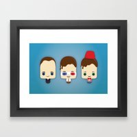 Doctor Who Ice Lollies Framed Art Print