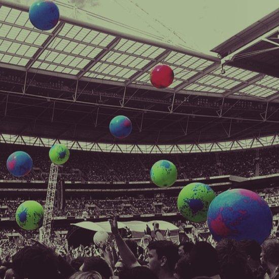 Coldplay at Wembley Art Print