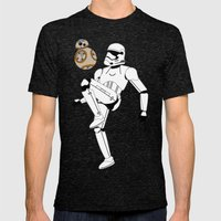 Droid Soccer Mens Fitted Tee Tri-Black SMALL