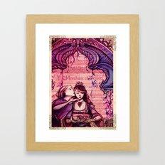 Portia - Shakespeare's Merchant of Venice Folio Illustration- A Kiss  Framed Art Print