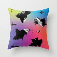 Cosmic Matter and the Neon Spectrum Throw Pillow