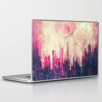 city Laptop & iPad Skins featuring Mysterious city by SensualPatterns