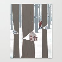 A Tree In The Forest Canvas Print