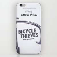 Bicycle Thieves - Movie Poster for De Sica's masterpiece. Neorealism film, fine art print. iPhone & iPod Skin