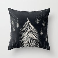 Midnight In A  Burning F… Throw Pillow