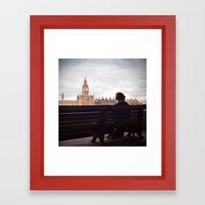 London Big Ben with a Guy Framed Art Print