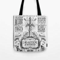 Legend of Zelda Vintage Master Sword Advertisement Tote Bag