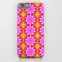 iPhone & iPod Case featuring Flower Power Pattern by Pink grapes