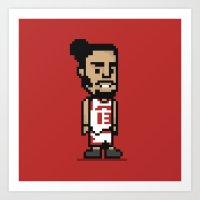 8-Bit: Joakim Noah Art Print