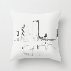 BROKEN CITY Throw Pillow