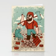 Paul Bunyan & Babe Stationery Cards
