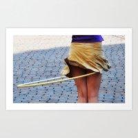 Hula Girl Art Print