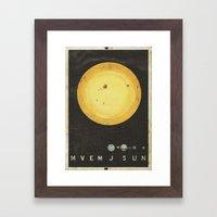Planetary Arrangement Framed Art Print