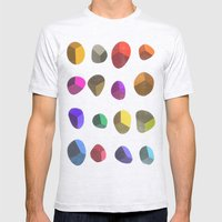 Painted Pebbles 2 Mens Fitted Tee Ash Grey SMALL