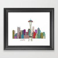 Seattle City  Framed Art Print