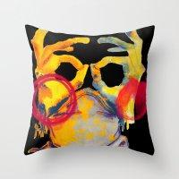Phantom Hands Throw Pillow